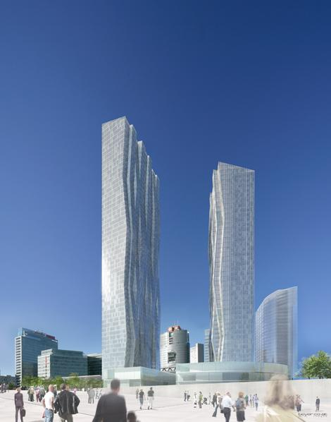 dc tower 1 la plus haute tour d 39 autriche par dominique perrault. Black Bedroom Furniture Sets. Home Design Ideas